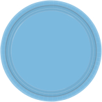 Powder Blue Paper Plates 22.8cm    - 12 PKG/8