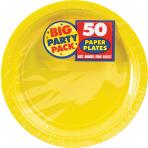 Sunshine Yellow Paper Plates 23cm - 6 PKG/50