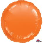 Metallic Orange Circle Standard Unpackaged Foil Balloons S15 - 10 PC