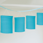 Caribbean Blue Paper Garlands 3.65m - 12 PC