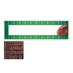NFL Personalised Banners 1.65 x 50cm - 6 PC