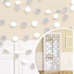 White Glitter String Decoration 2.13m - 6 PKG/6