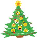 "Emoticon Christmas Tree SuperShape XL Foil Balloons 34""/86cm x 33""/83cm P30 - 5 PC"