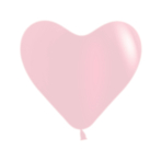 "Fashion Pastel Heart Solid Pink 109 Latex Balloons 6""/15cm - 100 PC"