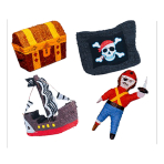 Assorted Pirate Designs Pinatas - 4 PC