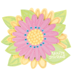 Jumbo Invite Splashy Flower - 6 PKG/8