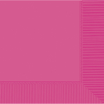 Bright Pink Beverage Napkins 2ply 23cm - 12 PKG/20