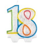 Milestone Birthday Candles 18th - 7.5cm - 6 PKG