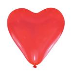 Red Hearts Medium Latex Balloons - 10 PKG/6