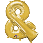 """Symbol & Gold SuperShape Foil Balloons 34""""/""""86cm P50 - 5 PC"""