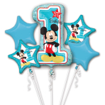 Mickey Mouse 1st Birthday Bouquet Foil Balloons P75 - 3 PC