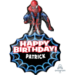 "Spider-Man Personalised SuperShape Foil Balloons 23""/58cm w x 34""/86cm h P40 - 5 PC"