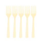 Vanilla Creme Plastic Forks - 12 PKG/10