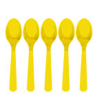 Sunshine Yellow Plastic Spoons - 12 PKG/10