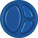 Bright Royal Blue Plastic Divider Plates 26cm - 10 PKG/20