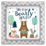 Bear-ly Wait Square Paper Plates 25cm - 12 PKG/8