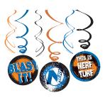 NERF Swirl Decoration - 6 PKG/6