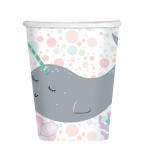 Narwhal Paper Cups 250ml - 6 PKG/8