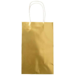 Metallic Gold Paper Loot Bags - 6 PKG/8