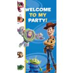 Toy Story Party Here Door Sign 1.65m x 85cm - 6 PKG