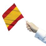 Spain Waving Flags  - 22cm w x 15cm h 6 PKG/12