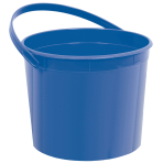 Royal Blue Plastic Buckets with Handles 11cm h x 17cm dia - 12 PC