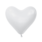 "Fashion Colour Heart Solid White 005 Latex Balloons 14""/36cm - 50 PC"