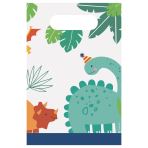 Dino-Mite Party Paper Loot Bags - 6 PKG/8