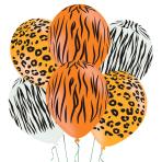 "Animal Print Latex Balloons 11""/27.5cm - 10 PKG/6"
