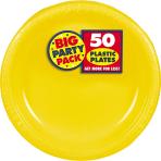 Sunshine Yellow Plastic Plates 18cm - 6 PKG/50