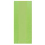 Kiwi Green Small Plastic Party Bag 24cm h x 10cm w - 12 PKG/25