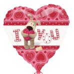 Boofle I Love You Holographic Standard Foil Balloon - S60 5 PC