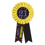 21st Birthday Award Ribbon - 6 PKG