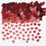 Sparkle Hearts Red Metallic Confetti 14g - 12 PKG