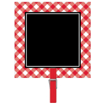 Picnic Party Chalkboard Clips - 12 PKG/8
