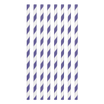 New Purple Paper Straws 19cm - 12 PKG/24