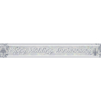 Happy Anniversary Holographic Foil Banners 2.7m - 12 PC