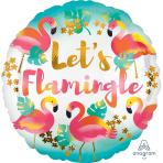 Let's Flamingle Standard Foil Balloons S40 - 5 PC