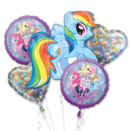 My Little Pony Friendship Adventure Holographic Foil Balloon Bouquets - 3 PC