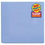Pastel Blue Big Party Pack 2-Ply Dinner Napkins 40cm - 12 PKG/50