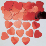 Hearts Red Jumbo Metallic Confetti 14g - 12 PC