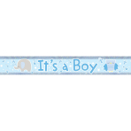 It's a Boy Holographic Foil Banners 2.7m - 12 PC