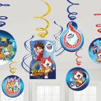 Yo-Kai Watch Swirl Decorations - 6 PKG/12
