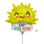 Iridescent Get Well Happy Son MiniShape Foil Balloons A30 - 5 PC
