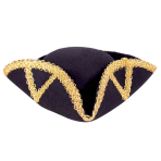 Stylish Baroque Tricorn Hats - 6 PC