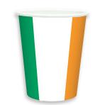 Ireland Flag Paper Cups 266ml - 6 PKG/8