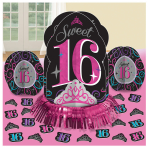 Sweet 16 Table Decorations Kits - 6 PKG