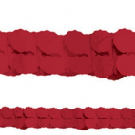 Red Paper Garlands 3.65m - 6 PC