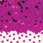 Sparkle Hearts Hot Pink Metallic Confetti 14g - 12 PKG