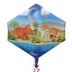 "Dino World Anglez Foil Balloons 17""/43cm w x 21""/53cm h G20 - 5PC"